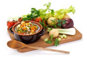 野菜たっぷりスープの画像