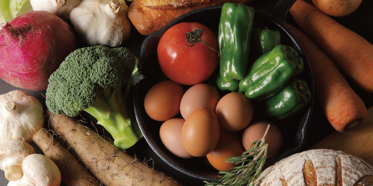 いろいろな種類の野菜の画像