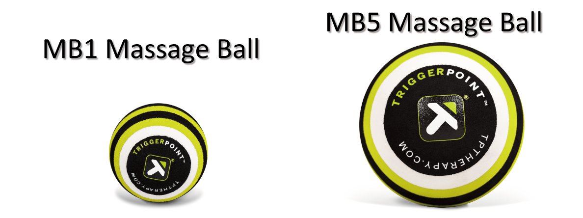 MB1とMB5 Massage Ballの画像